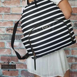 Kate spade large dawn sailing stripe backpack bag